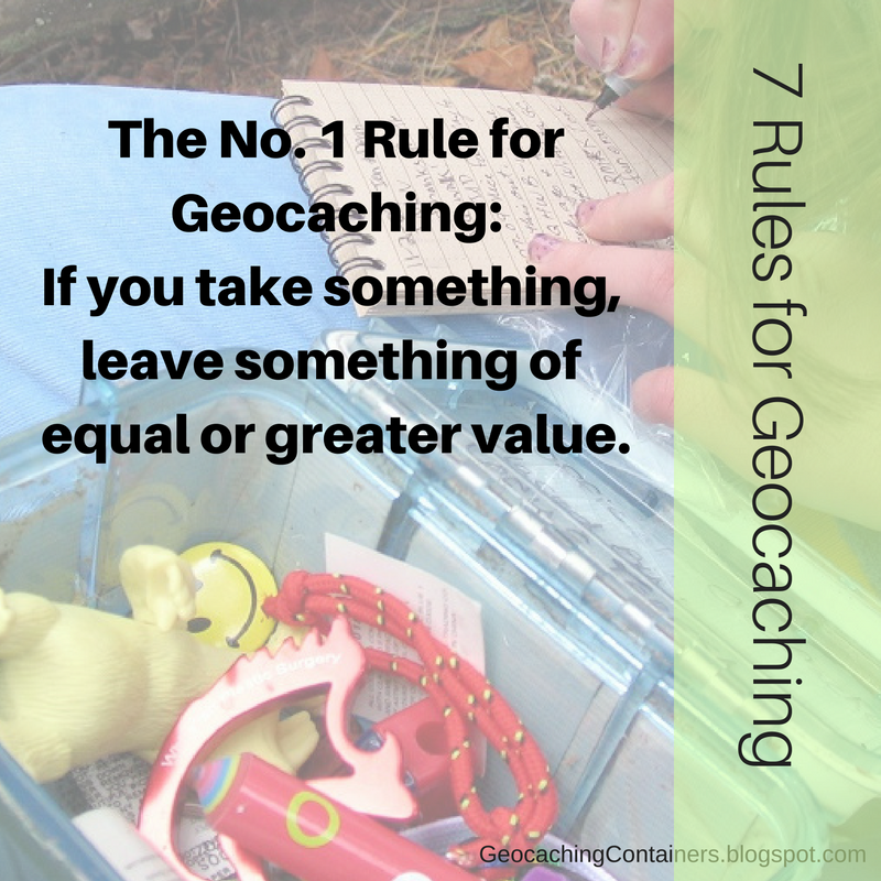 7 Rules for Geocaching